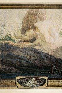 Illustrazione di Franz Von Bayros del Canto 1 del Purgatorio