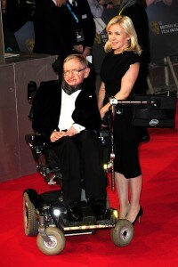 Stephen e Lucy Hawking alla EE British Academy Film Awards 2015, Royal Opera House di Londra