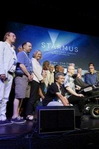 Stephen Hawking allo Starmus Festival di Arona, Tenerife, nel 2016