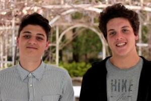 Simone Vasta e Francesco Tocci, alla RomeCup 2018 per la categoria Nonnibot