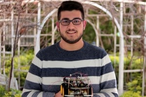 Gabriele e il suo robot Explorer parteciperanno all'edizione 2018 della RomeCup