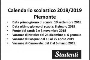 Piemonte Calendario Scolastico.Calendario Scolastico 2018 2019 Scuole Chiuse Per Elezioni