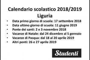 Calendario Scolastico 2020 20 Liguria.Calendario Scolastico 2018 2019 Scuole Chiuse Per Elezioni
