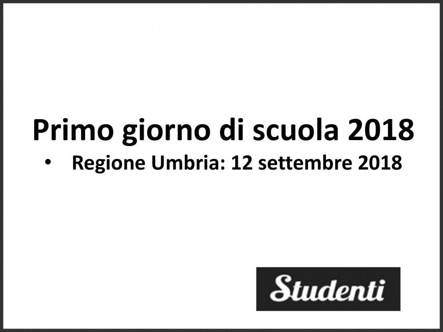Primo giorno di scuola 2018 Umbria