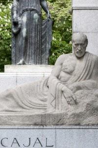 Statua in onore di Santiago Ramon y Cajal