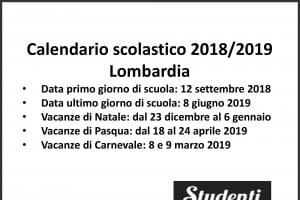 Calendario Scolastico 2020 Lombardia.Calendario Scolastico 2018 2019 Scuole Chiuse Per Elezioni