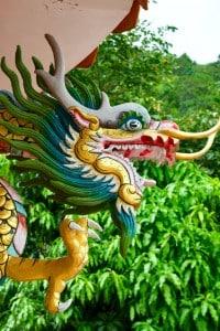 Statua di un dragone cinese
