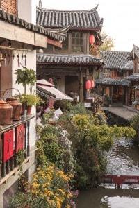 Un quartiere vecchio a Lijiang, Cina