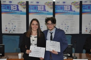 Mattia Simeone e Chiara Ciampi al concorso I giovani e le scienze 2018