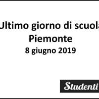 Ultimo giorno di scuola 2019 Piemonte