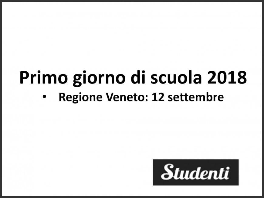 Primo giorno di scuola 2018 Veneto