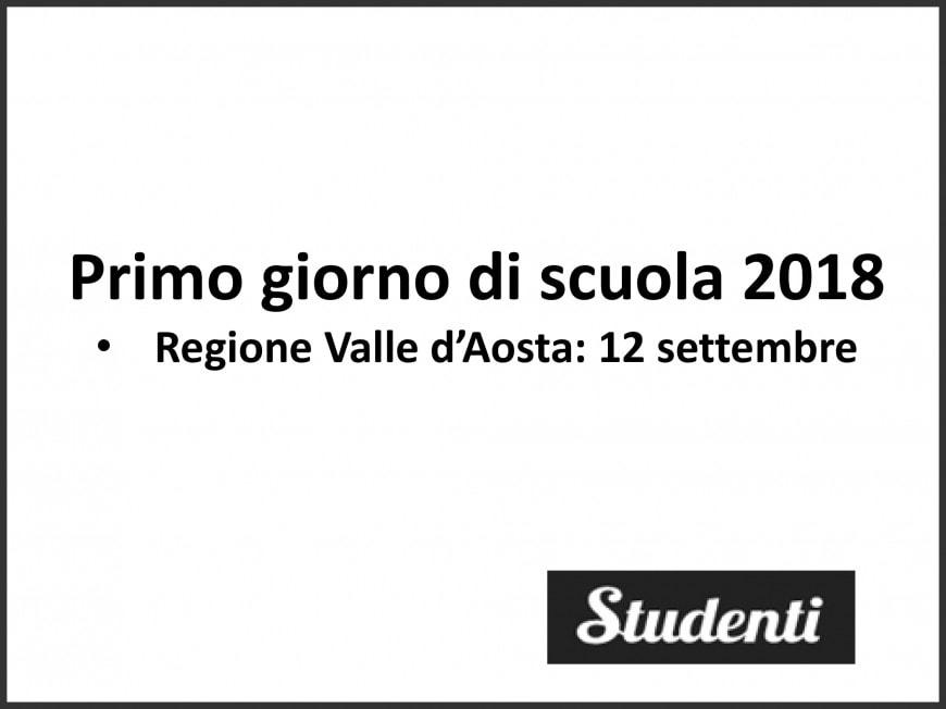 Primo giorno di scuola 2018 Valle d'Aosta
