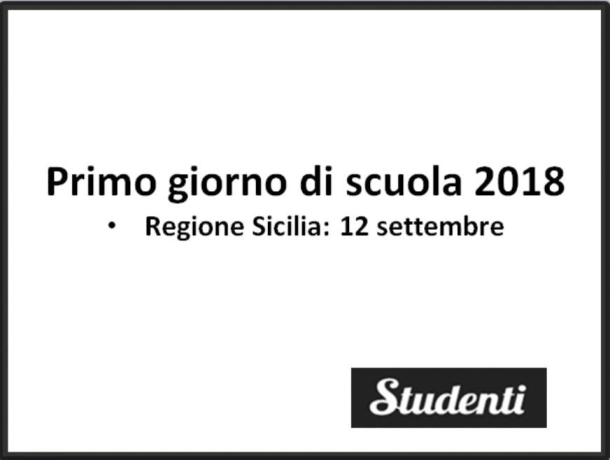 Primo giorno di scuola Sicilia 2018
