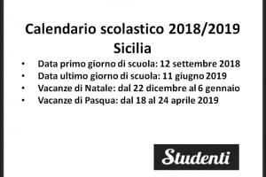 Calendario Scolastico 2020 Sicilia.Calendario Scolastico 2018 2019 Scuole Chiuse Per Elezioni