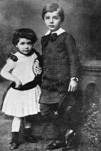Ancora bambino, Albert Einstein con la sorella