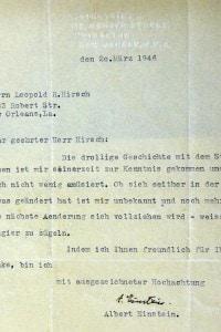 Albert Einstein, lettera autografa dello scienziato custodita a Ulm