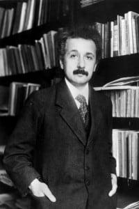 Einstein in una foto da giovane