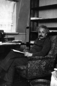 Einstein immortalato nella sua casa di Berlino