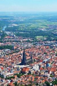 Foto panoramica di Ulm, città natale di Albert Einstein