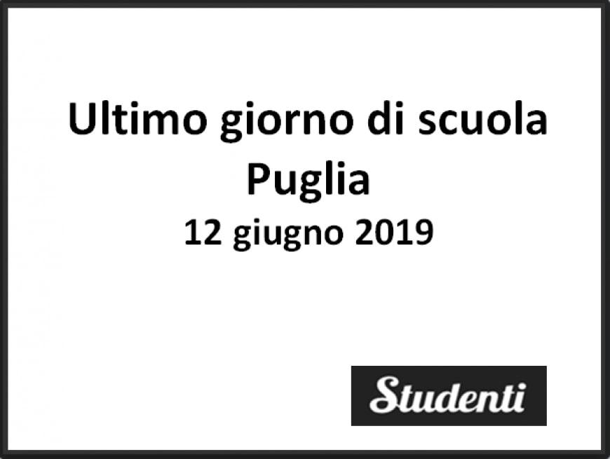 Ultimo giorno di scuola 2019 Puglia