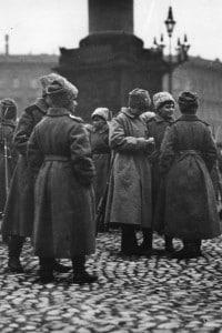 Un distaccamento femminile dell'Armata rossa