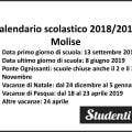 Calendario scolastico 2018 2019 Molise