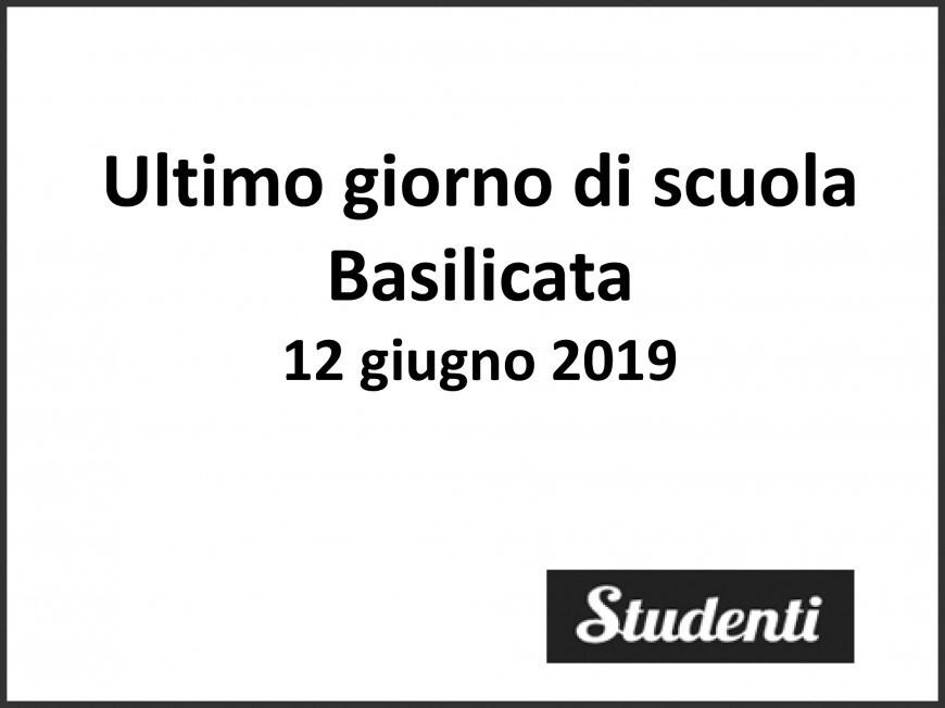 Ultimo giorno di scuola 2019 Basilicata