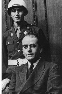 Albert Speer durante il processo di Norimberga