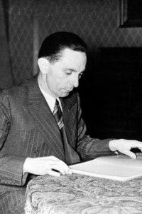 Joseph Goebbels, foto storica scattata il 31 dicembre 1939