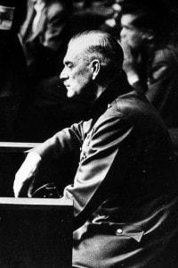 Wilhelm Keitel, foto scattata durante il processo di Norimberga