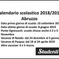 Calendario scolastico 2018 2019 Abruzzo