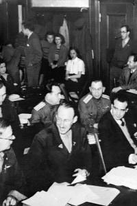 Giornalisti durante il processo di Norimberga