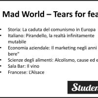 Tesina di Maturità, Mad World