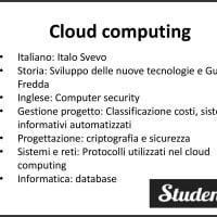 Tesina maturità sul cloud computing