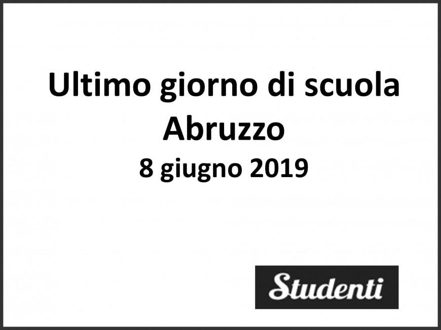 Ultimo giorno di scuola 2019 Abruzzo