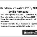 Calendario scolastico 2018-2019 Emilia Romagna