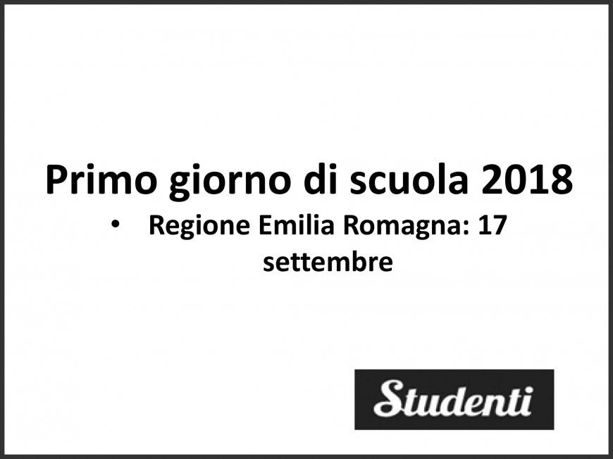 Primo giorno di scuola Emilia Romagna