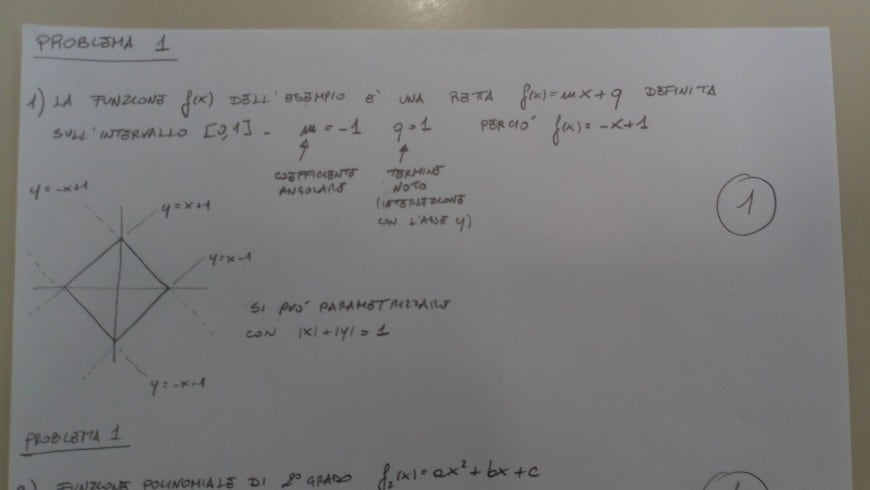 Soluzione problema 1-1 seconda prova scientifico maturità 2018