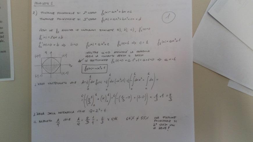 Soluzione problema 1-2 seconda prova scientifico maturità 2018