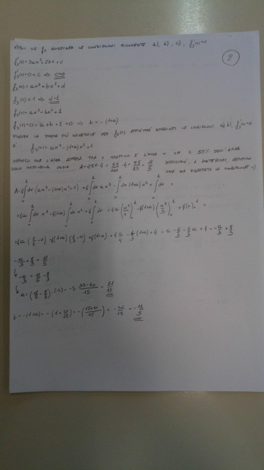 Soluzione problema 1-3 seconda prova scientifico maturità 2018