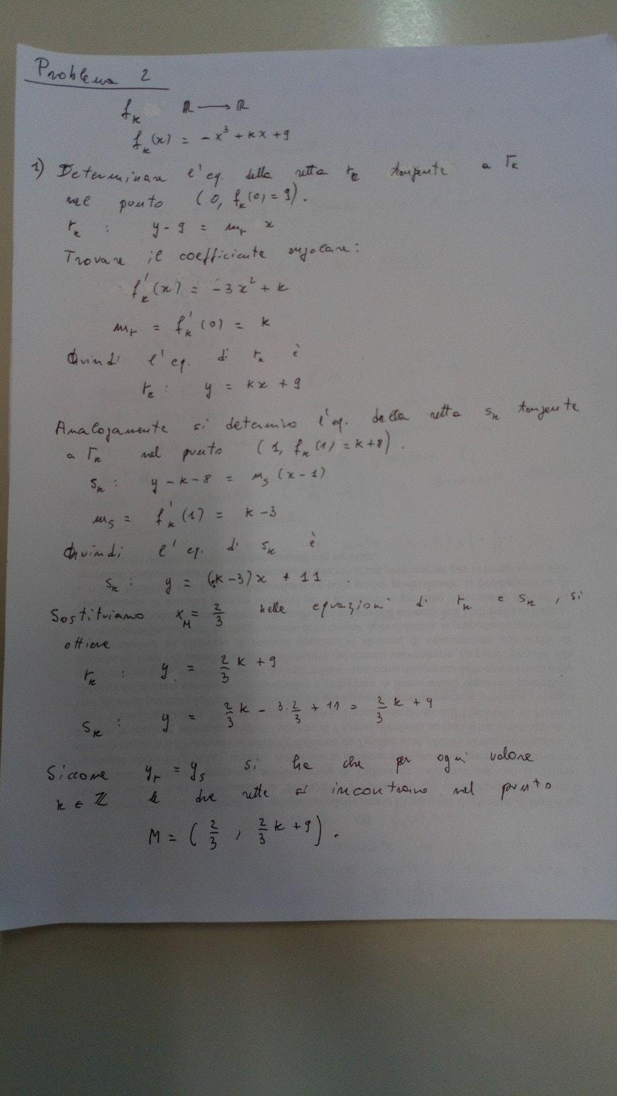 Soluzione problema 2-1 - seconda prova scientifico maturità 2018
