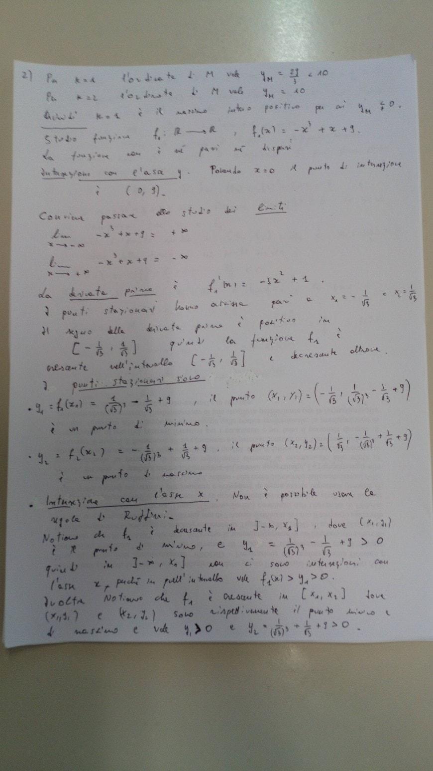 Soluzione quesito 2-2 - seconda prova scientifico maturità 2018