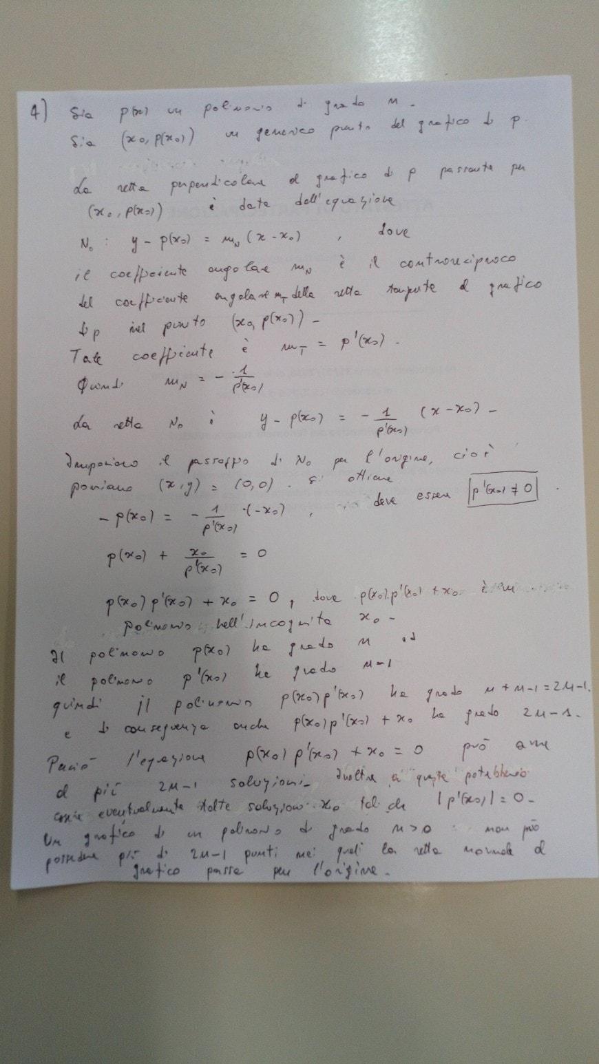 Soluzione problema 2 punto 4-a - seconda prova scientifico maturità 2018
