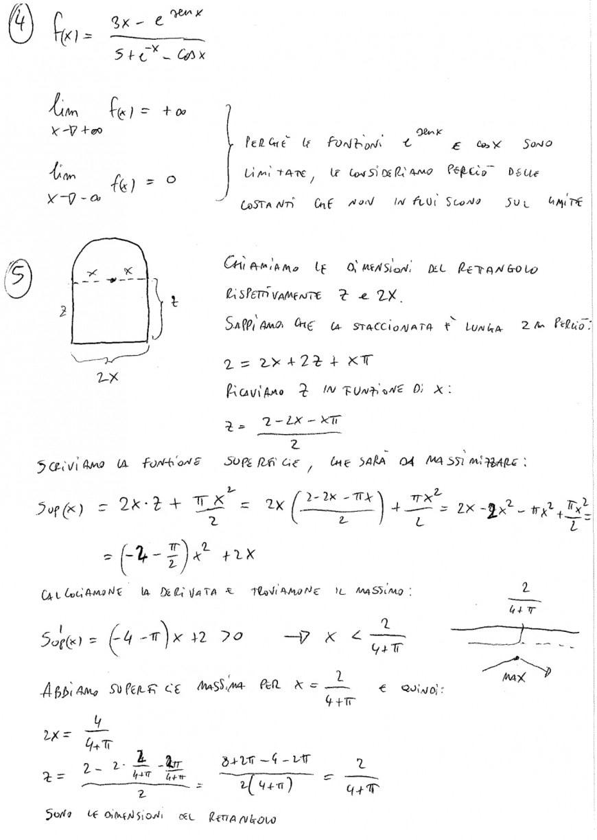 Soluzione quesiti 4 e 5 - seconda prova scientifico maturità 2018