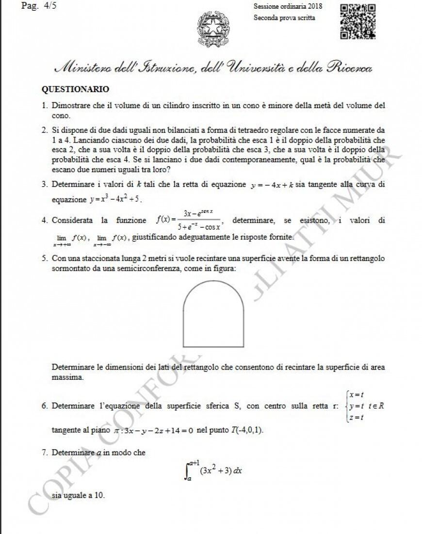 Tracce seconda prova matematica Pagina 4