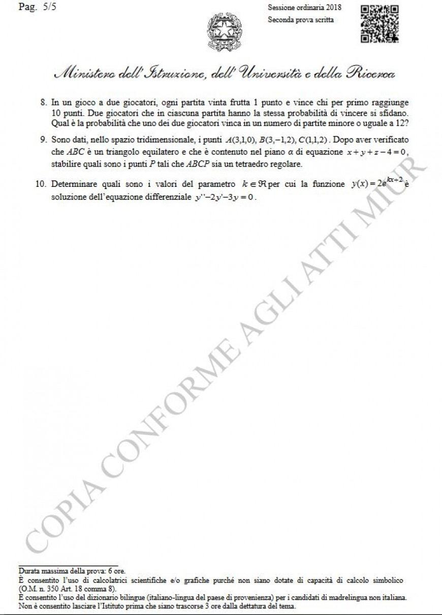 Tracce seconda prova matematica Pagina 5