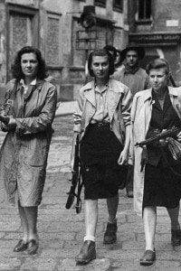 Partigiani del Partito d'azione durante la liberazione di Milano