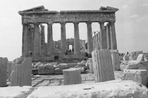 Il Partenone sull'antica Acropoli di Atene