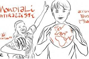 La vignetta di Gianluca Costantini per i Mondiali Antirazzisti