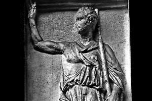 Rilievo raffigurante lo storico greco Polibio